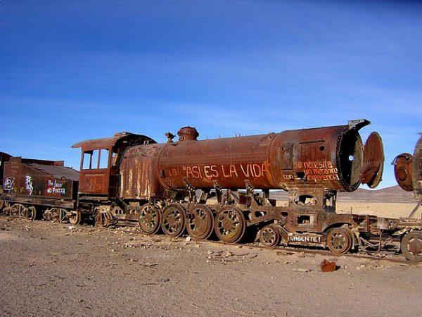 Свалка паровозов в Боливии