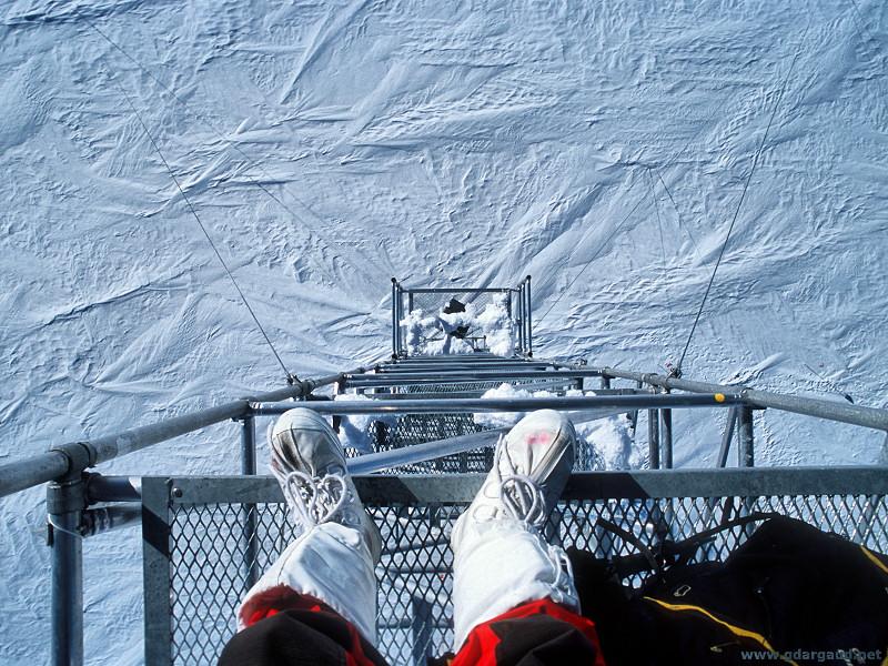 захватывающий вид под ногами Мачта в Антарктике