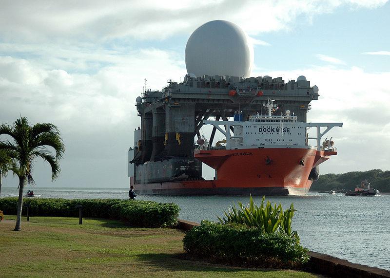 Огромная радарная платформа
