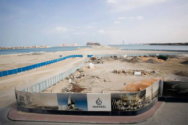 Остров в виде пальмы в Дубай