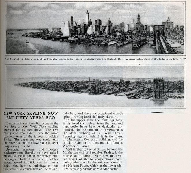 Нью-Йорк 1880-ый и 1930-ый года.
