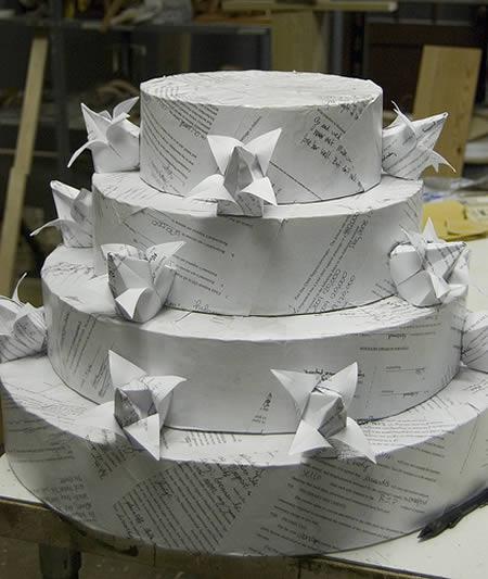 Бумажный пирог