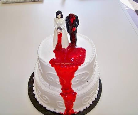 торт на развод весело