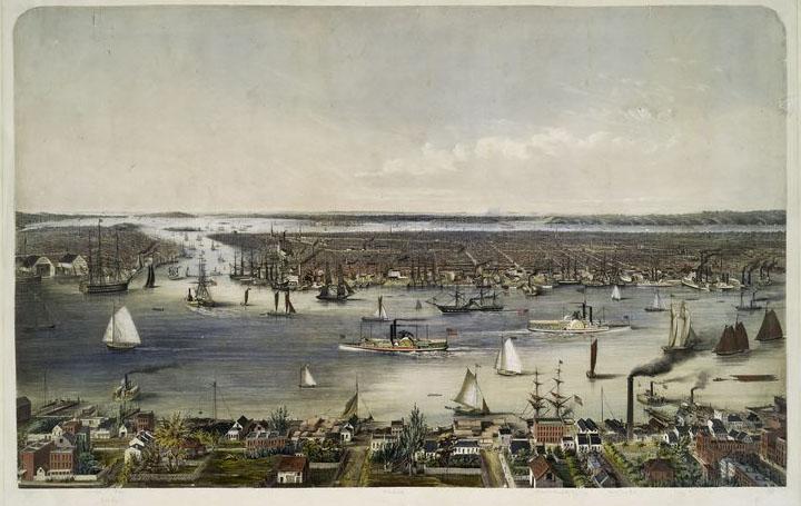 Нью-Йорк 1848 год.