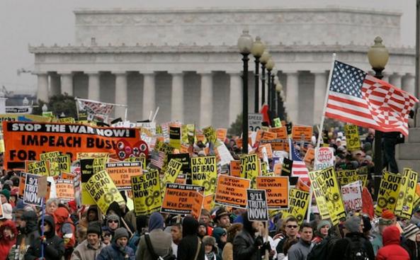 Акция протеста против войны в Ираке