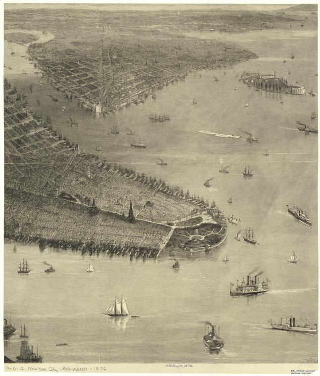 Нью-Йорк 1876 год.