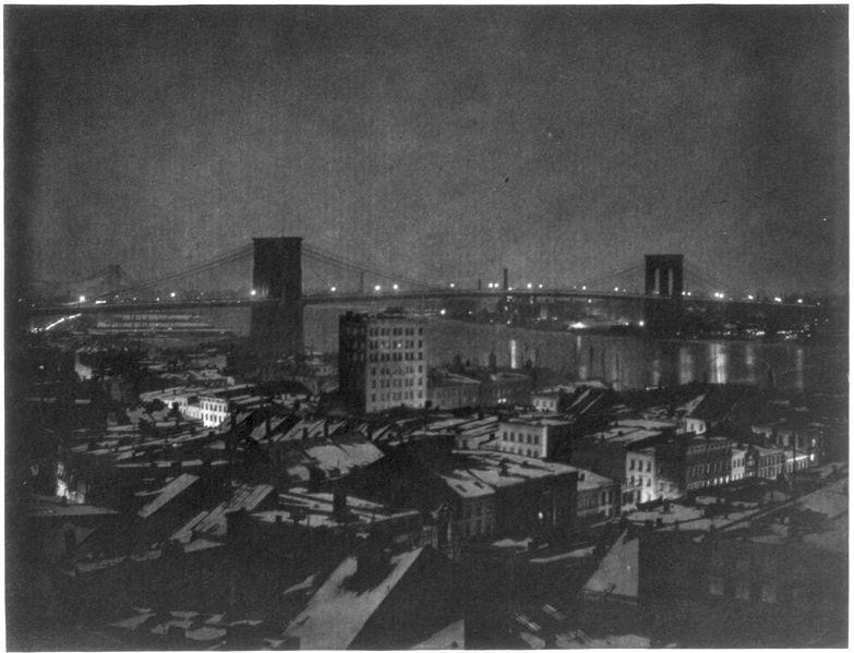 Нью-Йорк Бруклинский мост, 1903 год.