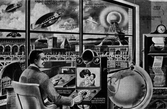 Представление о видеотелефоне в 1922 г.