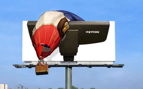 креативные билборды Миле