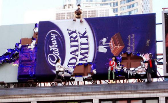 креативные билборды Шоколад Cadburry