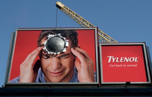 оригинальные билборды Тайленол