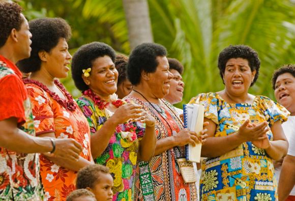 женщины острова Фиджи