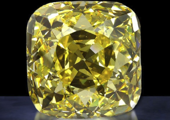 Ярко-жёлтый бриллиант Оллнат