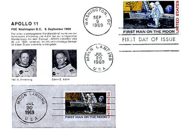 почтовые конверты Аполлон 15