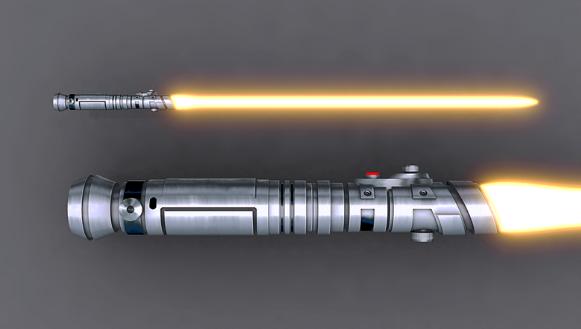 Световой меч побывавший в космосе
