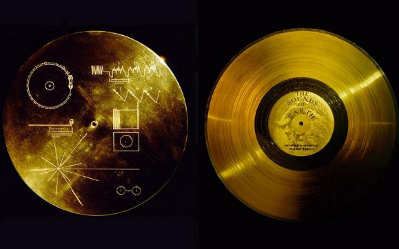 Золотой Виниловый Диск в космосе