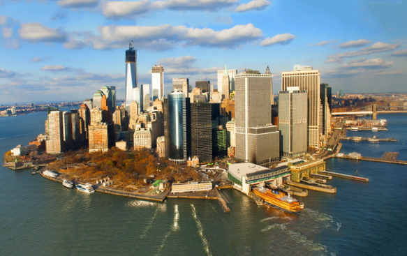 Нью-Йорк остров Манхэттен