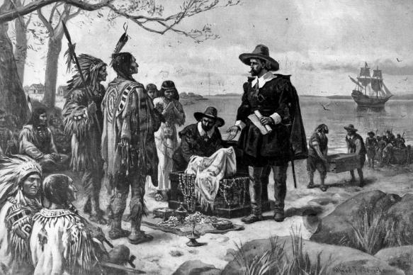Остров Манхэттен выкуплен у индейцев за 24 доллара