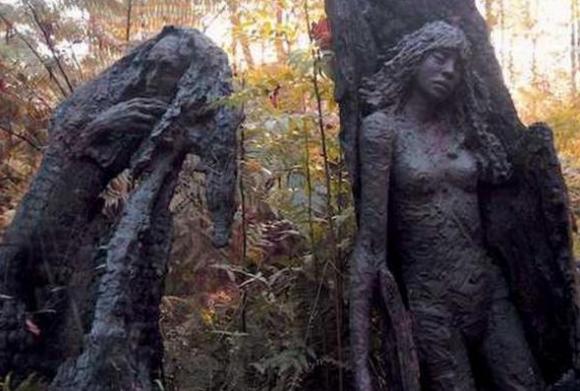 сказочный сад скульптур бруно торфса пожар