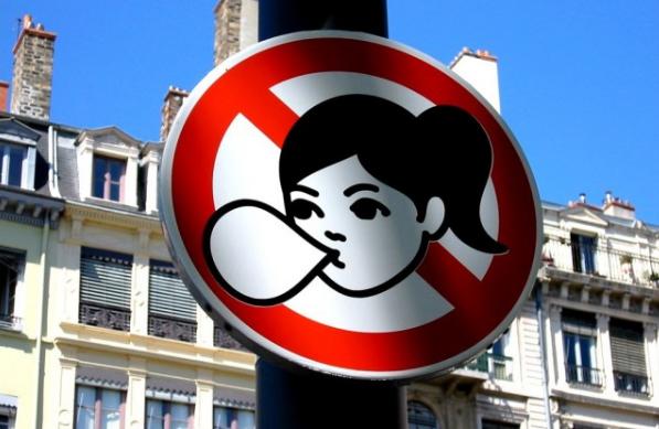 жевательная резинка запрет