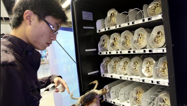 автомат для продажи крабов