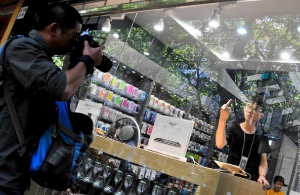ложные магазины Apple в Китае