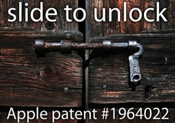 патент на «Slide to Unlock»