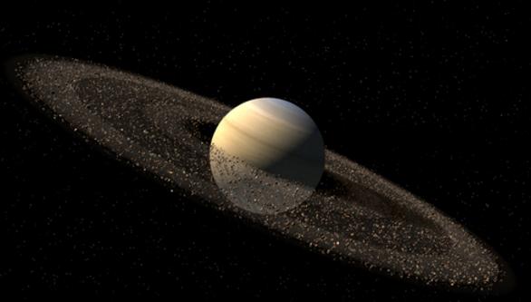 Планета Сатурн кольца