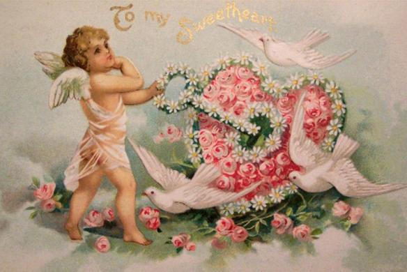 Старинные открытки-валентинки