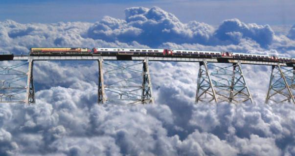 Трен-лас-Нубес дорога в облака