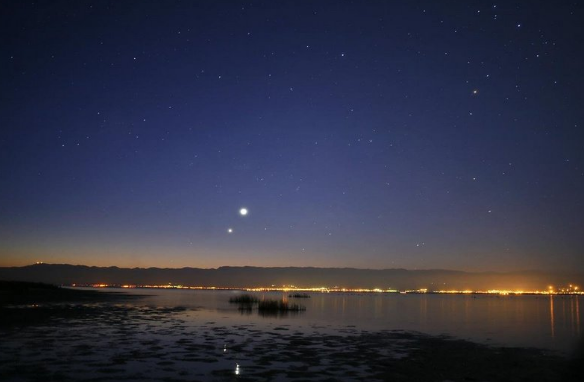 Юпитер в ночном небе
